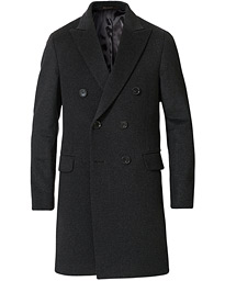 Sebastian Wool/Cashmere Double Breasted Coat Grey