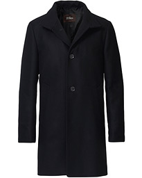 Storviker Wool Turnup Collar Coat Black