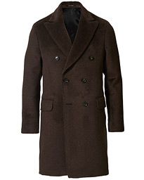 Saul Delux Llama Wool Double Breasted Coat Brown