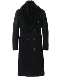 Pekka DB Sherling Collar Coat Black