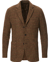 Aspesi Murakami Tweed Blazer Brown Check