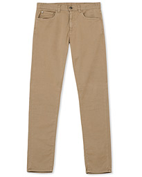 Canali Slim Fit 5-Pocket Pants Beige