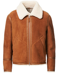 The Shearling Jacket Clay Suede