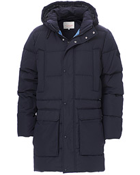The Long Alta Down Jacket Evening Blue