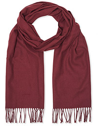 Solid Wool Scarf Port Red