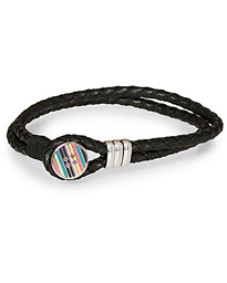 Paul Smith Enamel Button Bracelet Black