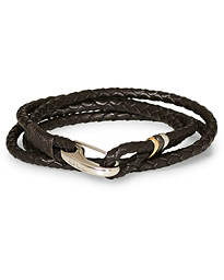 Paul Smith Leather Wrap Bracelet Brown