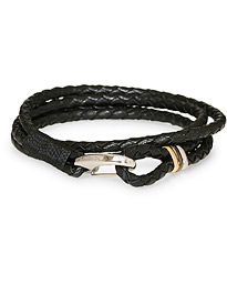 Paul Smith Leather Wrap Bracelet Black
