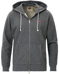 Levi's Original Full Zip Hoodie Charcoal Heather