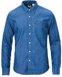 Levi's Slim Fit Sunset Denim Shirt Ecovera Chambray Rinse