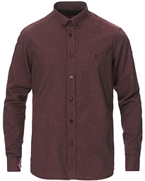 Nelson Flannel Button Down Shirt Wine Red