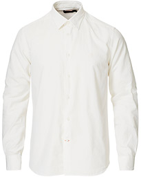 Cedric Baby Cord Button Under Shirt Off White