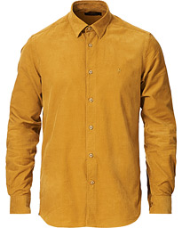 Cedric Baby Cord Button Under Shirt Yellow