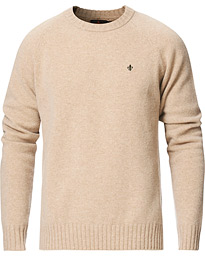 Lambswool Knitted Crew Neck Khaki