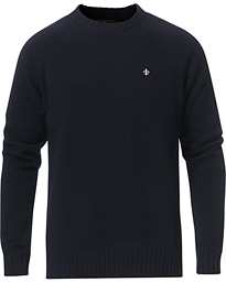 Lambswool Knitted Crew Neck Navy