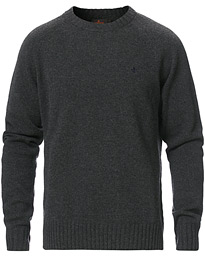 Lambswool Knitted Crew Neck Grey