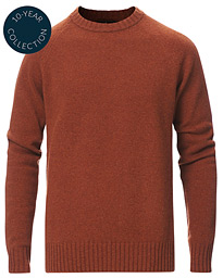 Lambswool Knitted Crew Neck Rust