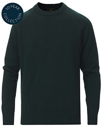 Lambswool Knitted Crew Neck Green
