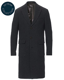 Structured Wool Patch Pocket Coat Charcoal