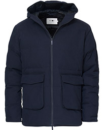 Mason Prima Loft Hooded Jacket Navy