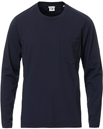 NN07 Pima Long Sleeve Tee Navy