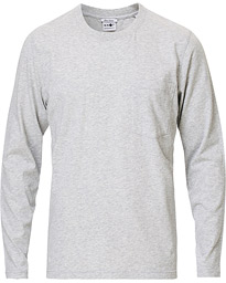 NN07 Pima Long Sleeve Tee Light Grey