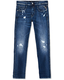 Replay Anbass Superstretch Destroyed Jeans Blue