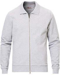 Stenströms Cotton College Zip Cardigan Grey