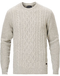 Barbour Lifestyle Chunky Cable Crew Neck Fog