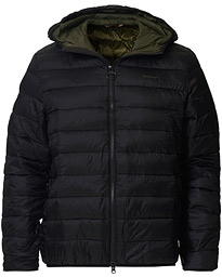 Benton Quilted Hooded Jacket Black