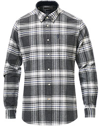 Highland Flannel Check Shirt Grey Marl