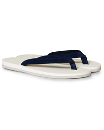 The Resort Co Suede Flip-Flop Navy/White