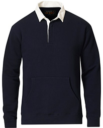 Cotton Fleece Rugger Shirt Navy