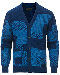 Patchwork Cotton Cardigan Indigo
