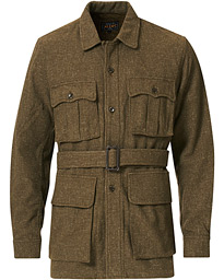 Belted Safari Jacket Olive