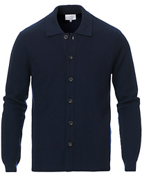 14 Savile Row Knitted Overshirt Navy