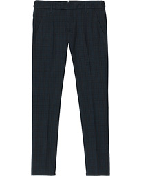 Carl Side Adjusted Trousers Blue Check