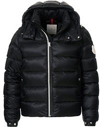 Moncler Arves Down Hooded Jacket Black