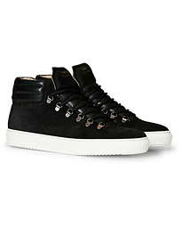 ZSP2 High Top Suede Sneakers Black