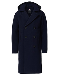 Shakelton Long Peacoat Navy