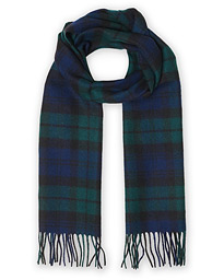 Lambswool Scarf Navy/Black Watch