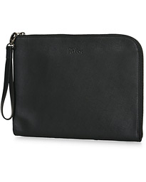 Kenny Saffiano Leather Portfolio Black
