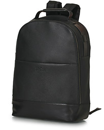 Roy Saffiano Leather Backpack Black