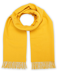 Solid Wool/Cashmere Scarf Yellow