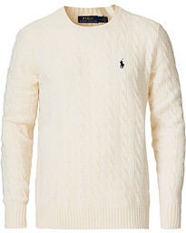 Polo Ralph Lauren Wool/Cashmere Cable Sweater Cream