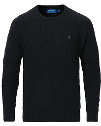 Polo Ralph Lauren Wool/Cashmere Cable Sweater Black