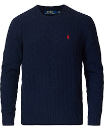 Polo Ralph Lauren Wool/Cashmere Cable Sweater Hunter Navy