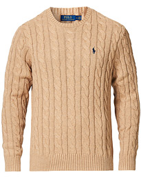 Polo Ralph Lauren Cotton Cable Crew Neck Pullover Camel