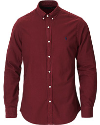 Polo Ralph Lauren Slim Fit Garment Dyed Oxford Shirt Wine