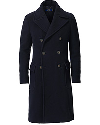 Polo Ralph Lauren Double Breasted Car Coat Navy